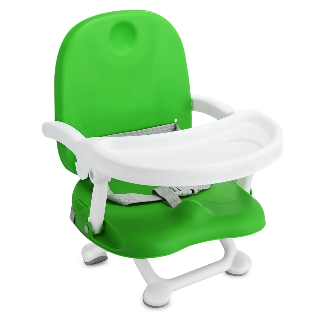 Adjustable Folded Baby Kids Booster Seat High Chair Detach Tray Baby Chairs Dinner Plate ...