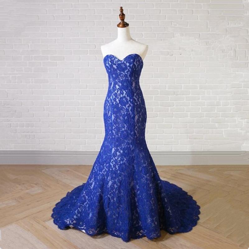 Katristsis d Royal Blue Lace Long Prom Dresses 2018 Evening Dress ...