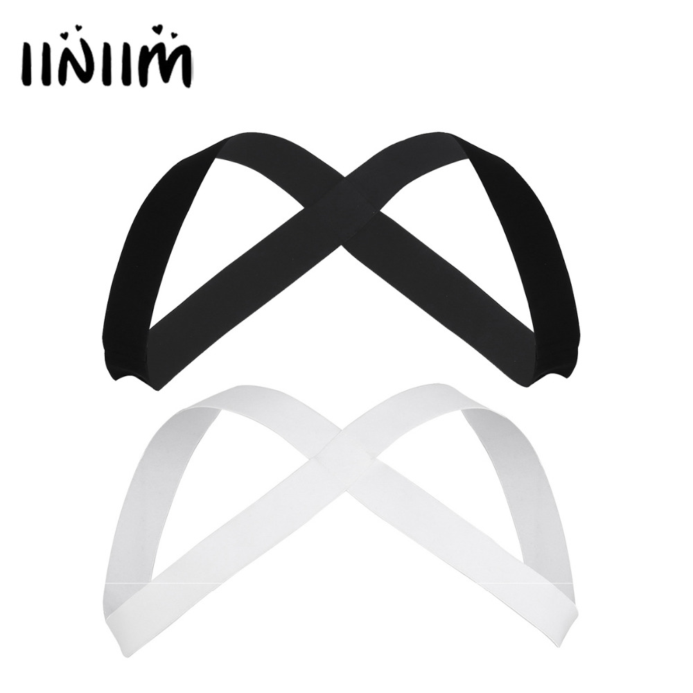 iiniim Mens Cosplay Party Bondage Strong Nylon X-Shape Back Elastic Shoulder Body Chest Muscle Harness Costumes Belt