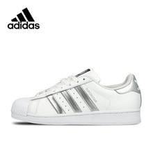 2285417f128 Autêntico Adidas Originals Superstar Respirável Unissex Sapatos de Skate  Esportes Dos Homens E das Mulheres Sneakers