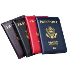Высококачественная Обложка для паспорта США розовая Женская