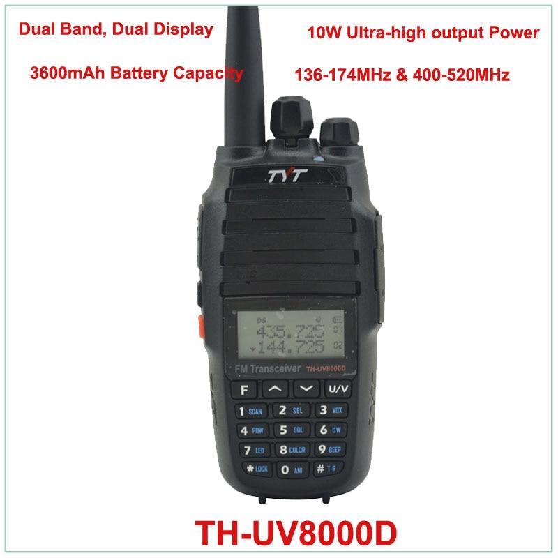 TYT TH-UV8000D Dual Band VHF136-174/UHF400-520MHz Two Way Radio 10W FM THUV8000D Transceiver Radio Handheld Walkie Talkie