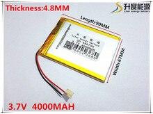 3,7 V 4000 mAh 486790 литий-полимерный литий-po Li ion Перезаряжаемые Батарея ячейки для Mp3 MP4 MP5 gps Мобильный bluetooth