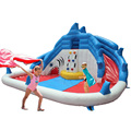 YARD Inflatable Water Slide Shark Water Park Swimming Pool Outdoor Fun Toys for Kids Party Special Offer for Middle East