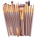 U 15 unids brochas de conjuntos Pro pelo ceja Cosméticos Colorete maquiagem cosméticos fundación brush pen cleaner Envío de La Gota
