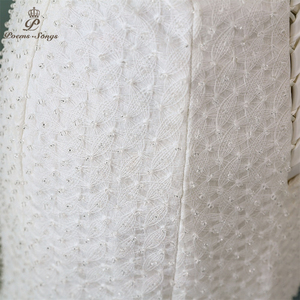 Image 5 - PoemsSongs חדש יוקרה תחרה חתונה שמלה 2020 robe mariage Vestido דה noiva בת ים חתונת שמלות robe דה mariee