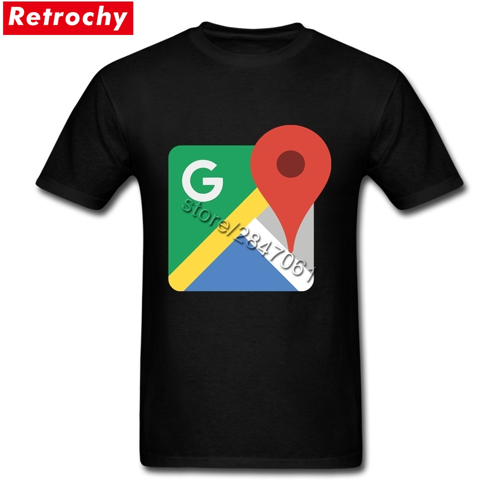 2017 Swag Tees Shirt google maps logo for Men Stylish Fit Short Sleeve Summer T-Shirt Family Plus Size Merchandise ...