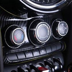 Interrupteur de climatisation intérieur en Fiber de carbone A/C ajuster l'autocollant de couverture centrale pour Mini Cooper F55 F56 F57 accessoires décoratifs