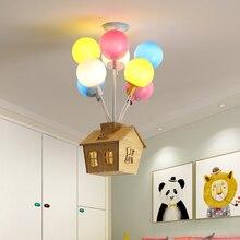 Globos de colores nórdicos lámparas de techo colgantes, lámparas de decoración para habitación de niños, accesorio de luz