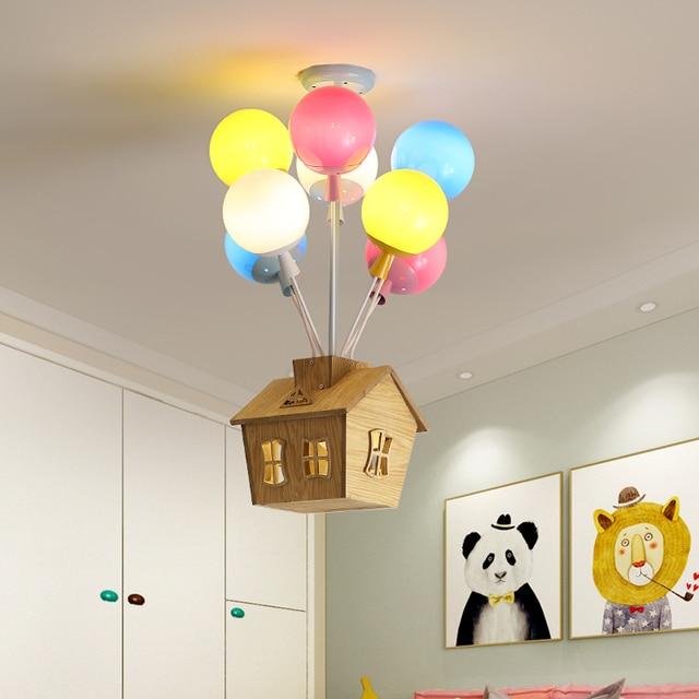Nordic kolorowe balony wisiorek lampy sufitowe światła dzieci indywidualność lampy wiszące dekoracja pokoju dziecięcego oprawa oświetleniowa