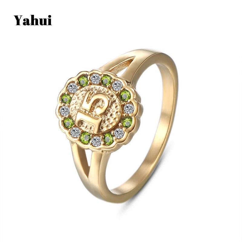 Schmuck & Zubehör Yahui Edelstahl Finger Ring Hohe Qualität Einfache Größe 15 Ring Weibliche Stein Ringe Für Frauen Engagement Ring Schmuck 100% Garantie