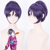 Anime LoveLive! Nozomi Tojo Kimono Short Ponytail Wig Cosplay Costume Love Live Women Synthetic Hair Halloween Party Wigs