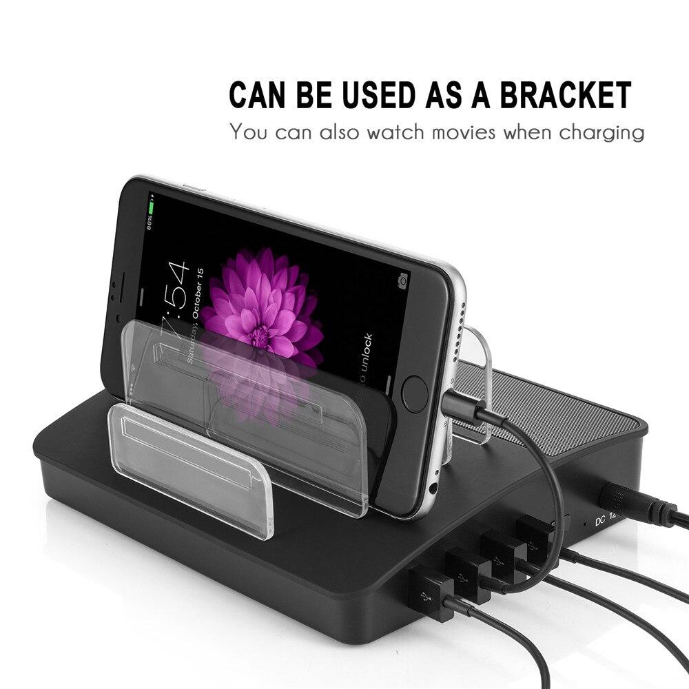 Chargeur USB universel 4 ports chargeur Station bureau smartphone tablette chargeur avec support pour Iphone 8 x samsung s8 s9