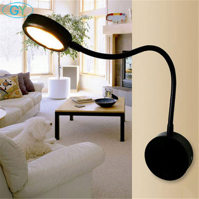 3w Led Hose Wall Lamp Modern Minimalist Bedroom Light Bedside Reading Hotel