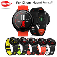 22mm Sports Silicone Wrist Strap bands for Xiaomi Huami Amazfit Bip BIT PACE Lite Youth Smart Watch Replacement Band Smartwatch 1