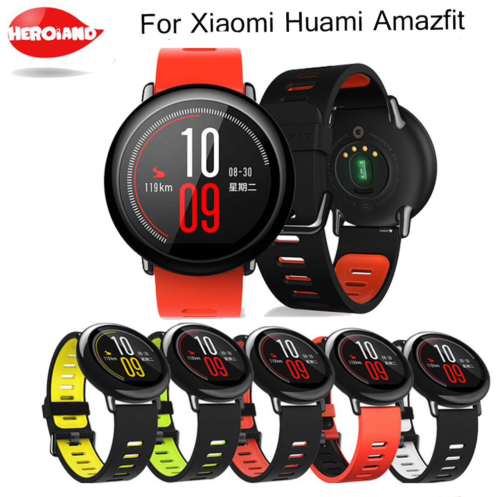 22mm Sports Silicone Wrist <font><b>Strap</b></font> bands for Xiaomi Huami <font><b>Amazfit</b></font> Bip BIT PACE <font><b>Lite</b></font> Youth Smart Watch Replacement Band Smartwatch image