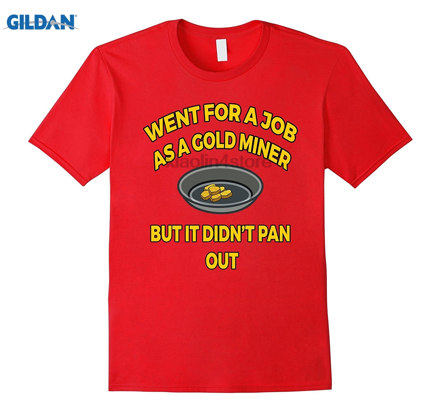GILDAN Gold Panning T Shirt Funny Gift for Panners Fun T-Shirt Mens Print Casual 100% Cotton T-Shirt Popular
