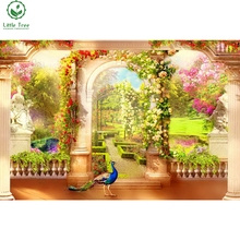 full gear rhinestone embroidery garden in paradise diamond painting animal peacock living room decoration painting needlework