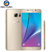 Original desbloqueado Samsung Galaxy Note 5 N920A N920P teléfono móvil 4GB RAM 32GB ROM 16MP 5,7 ''WIFI GPS WIFI 4G LTE teléfono móvil