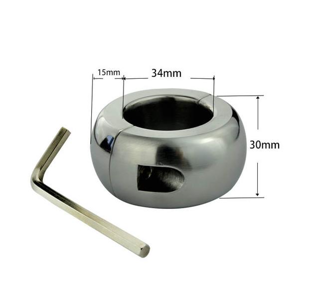 460g de aço Inoxidável anel peniano testículos maca Maca Bola de Peso para CBT sexo tempo de atraso anel pênis brinquedos sexuais