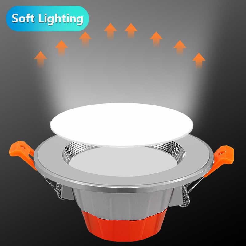 CANMEIJIA светодиодный светильник с регулируемой яркостью 5 Вт 9 Вт 220 В круглый встраиваемый светильник Светодиодный точечный светильник Потолочные светильники Спальня домашний теплый белый