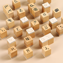 цена на 28 pcs/set Vintage alphabet decoration wood stamp wooden rubber stamps for scrapbooking stationery DIY craft standard stamp