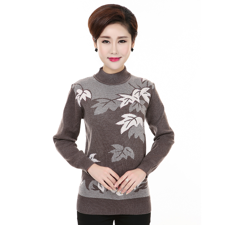 MV Spring Autumn Big Childrens Jacquard Sweater Casual Sweet Bottoming Sweaters