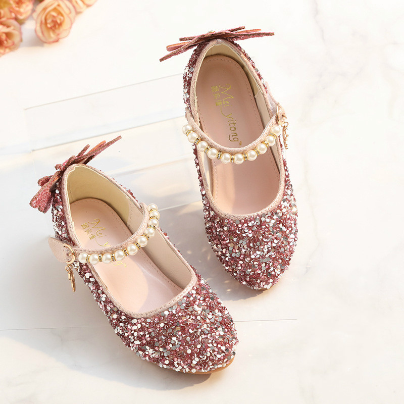 Children Shoes For Girls High Heel Princess Sandals Fashion Wedding Kids Shoes Glitter  Leather Butterfly Girls Host Party DanceChildren Shoes For Girls High Heel Princess Sandals Fashion Wedding Kids Shoes Glitter  Leather Butterfly Girls Host Party Dance