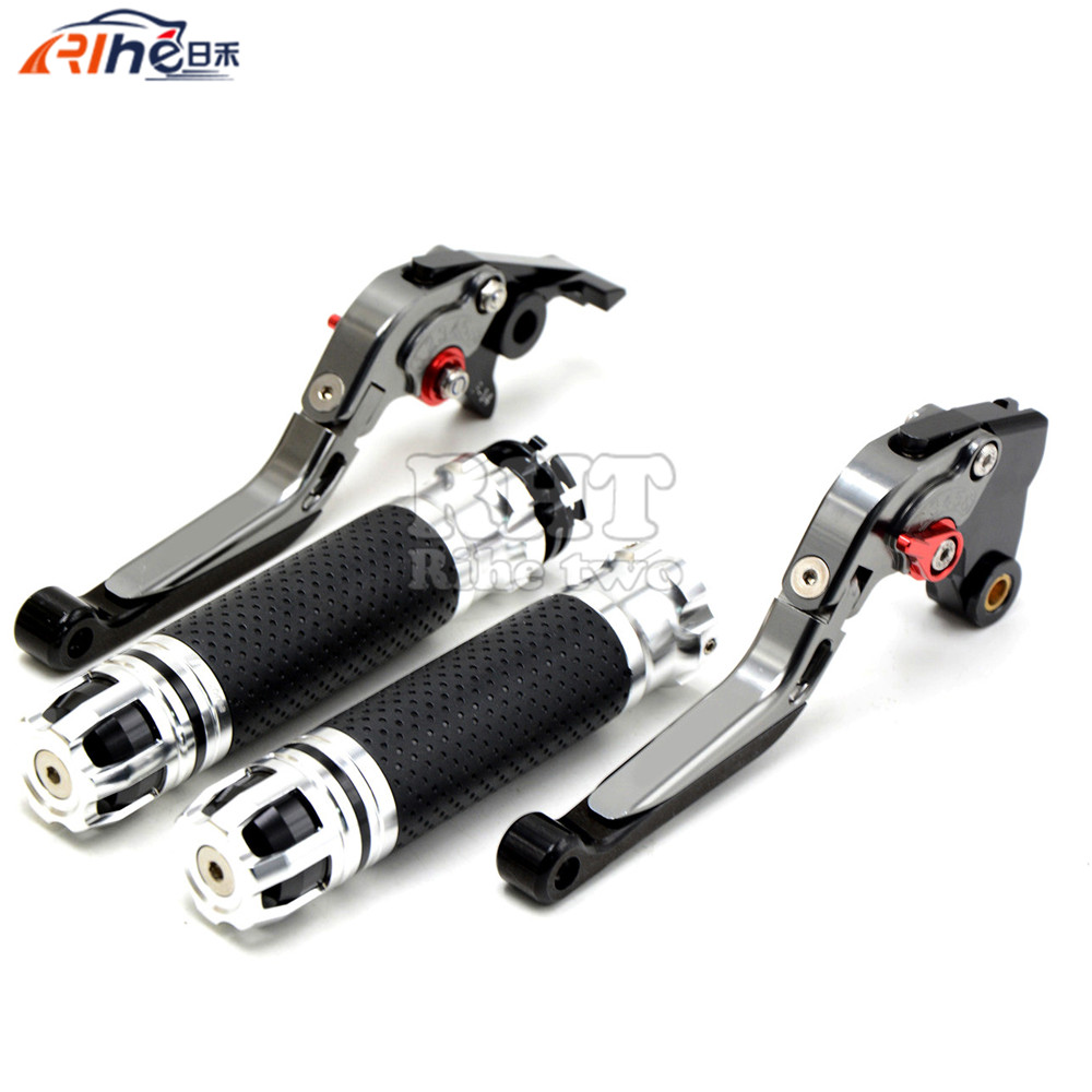 CNC Handlebar Motorcycle Handle Bar Grips Adjustable Clutch Brake Levers For SUZUKI HAYABUSA GSXR1300 08 09 10 11 12 13 14 15 16