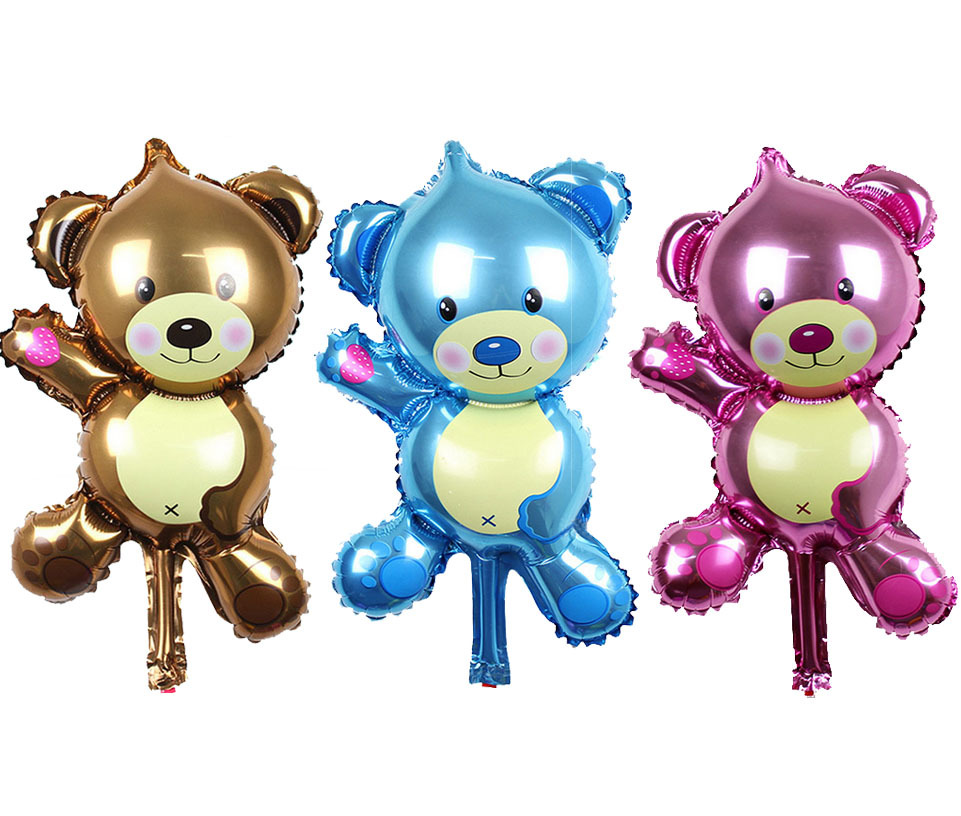 New arrive Mini bear Foil balloon party decoration cartoon Birthday balloons Chi