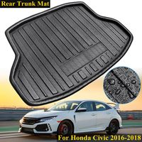 For Honda for Civic 2016 2017 2018 New Rear Trunk Cargo Car styling Interior Accessories Boot Liner Waterproof Mat