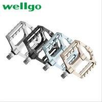 Wellgo kb010 bicicleta pedais liga de alumínio ultraleve 6 cores orginal mtb mountain road peças da bicicleta ao ar livre pedais ciclismo|Pedal da bicicleta| |  -