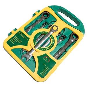 Image 4 - Jeu de clés à cliquet, outils manuels pour les réparations automobiles, jeu de clés à cliquet, outils de couple, 8 19mm