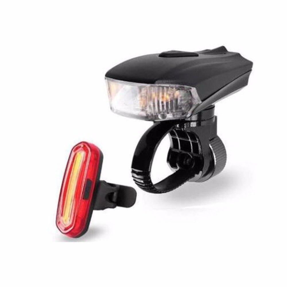 USB Rechargeable Lumière De Vélo Avant De Bicyclette Head lumières Étanche VTT Route Vélo Flash lumière Tactile Coffre De Nuit dans Vélo lumière de Sports et loisirs
