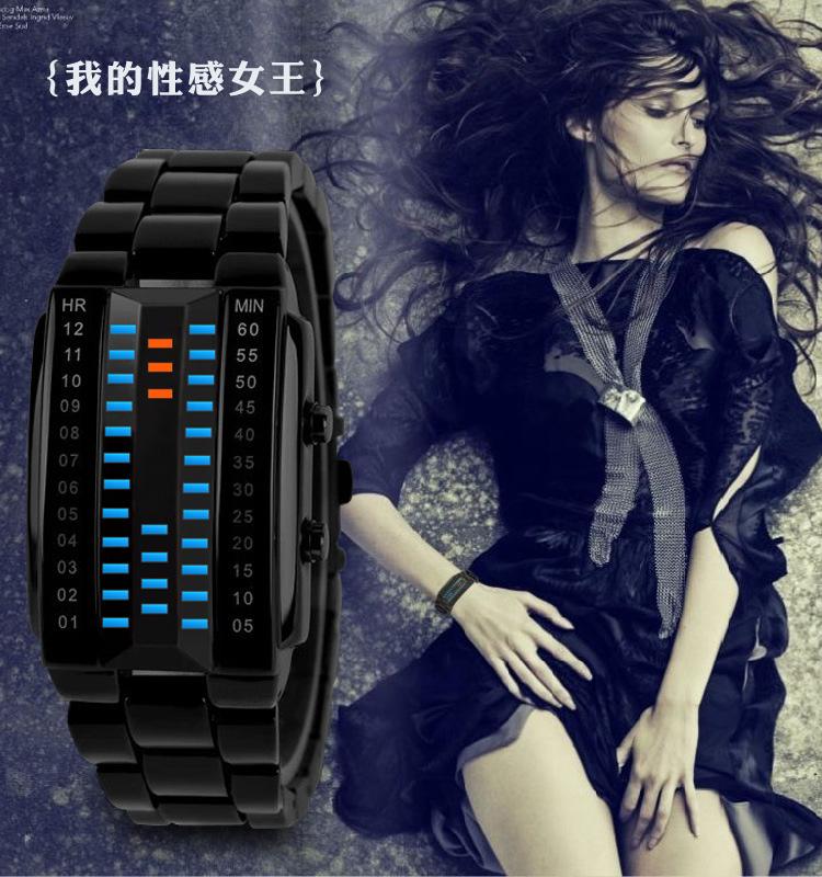 Jolie Montre Bracelet Numérique Étanche Pour Hommes Femmes Lumineux LED Montre Électronique