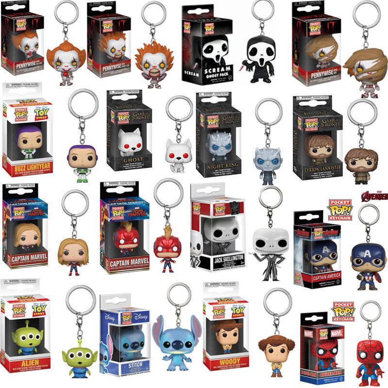 FUNKO POP Avengers: endgame toy story 4 Pennywise di Tasca Portachiavi Action Figure Game of Thrones Giocattolo Per I Bambini Regalo Di Natale