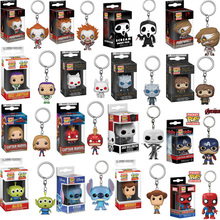FUNKO POP Avengers: Endgame Toy Story 4 Pennywise Pocket Keychain Action Figures Game of Thrones Toy For Children Christmas Gift