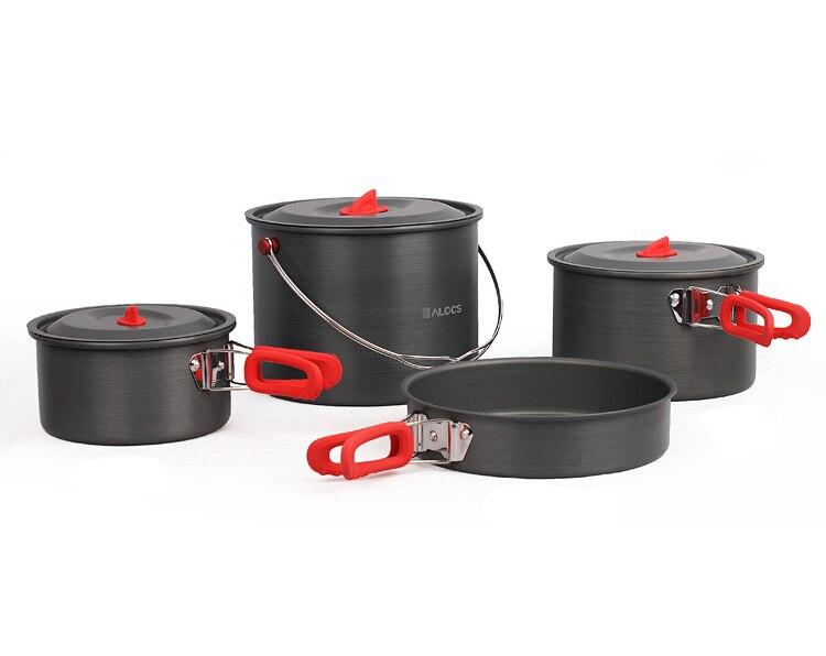 ALOCS бренд открытый Пособия по кулинарии горшок Наборы для ухода за кожей Кемпинг Кухонная посуда путешествия горшки и панорамирование Пикн