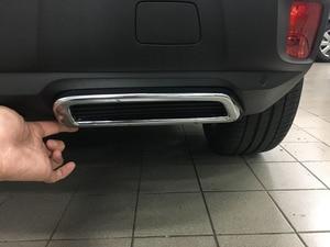 Image 3 - لبيجو 3008 5008 2017 2018 سيارة التصميم الخارجي حلية ABS خلفية من الكروم العادم الخمار نهاية الأنابيب ملصقا غطاء 2 قطعة