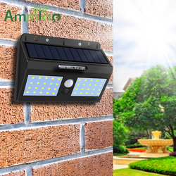 LED Rua Luz Solar Sensor de Movimento PIR Luz Solar Do Jardim Ao Ar Livre Luzes Solares Para Jardim Lanterna À Prova D' Água Decoração Da Escada