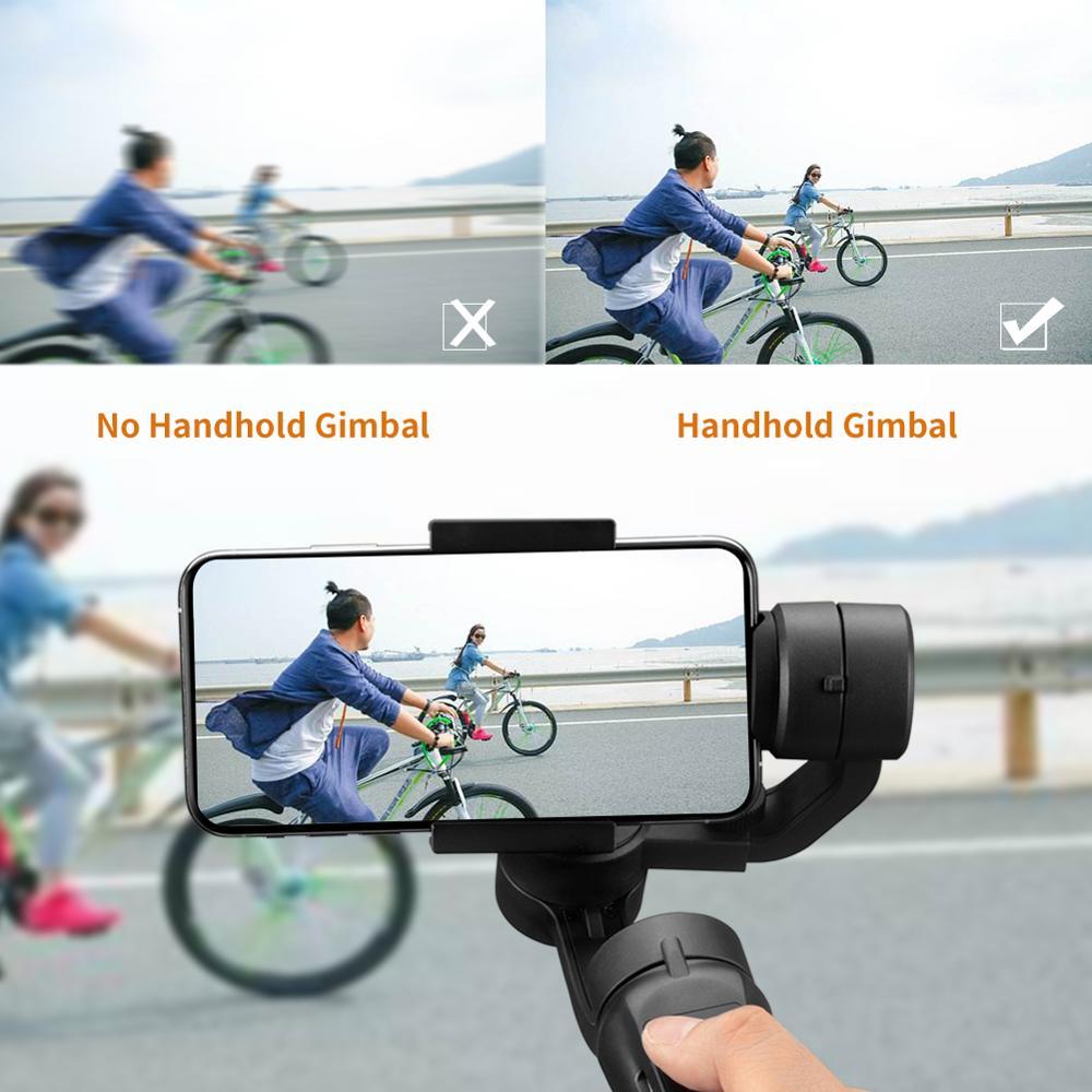 Stabilisateur de cardan portable Flexible 3 axes pour iPhone Xs Max Xr X 8 Plus 7 pour Huawei pour Samsung S9, 8 support pour téléphone extérieur PTZ - 3