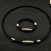 Negative ion cervical spine necklace Magnetic buckle set Multi color optional Suitable for summer wear