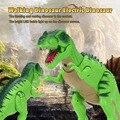 Новый Электрический Динозавров Милый Мультфильм Ходить Динозавров Свет Игрушка рисунок со Звуками и СВЕТОДИОДНЫЙ Проектор и Электронные Игрушки 2 цвета