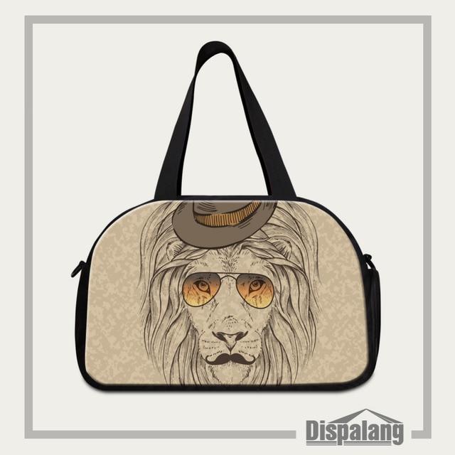 Dispalang Animal Designer Gym Bag Tennis Luggage Travel Basketball Duffel Fitness Tote