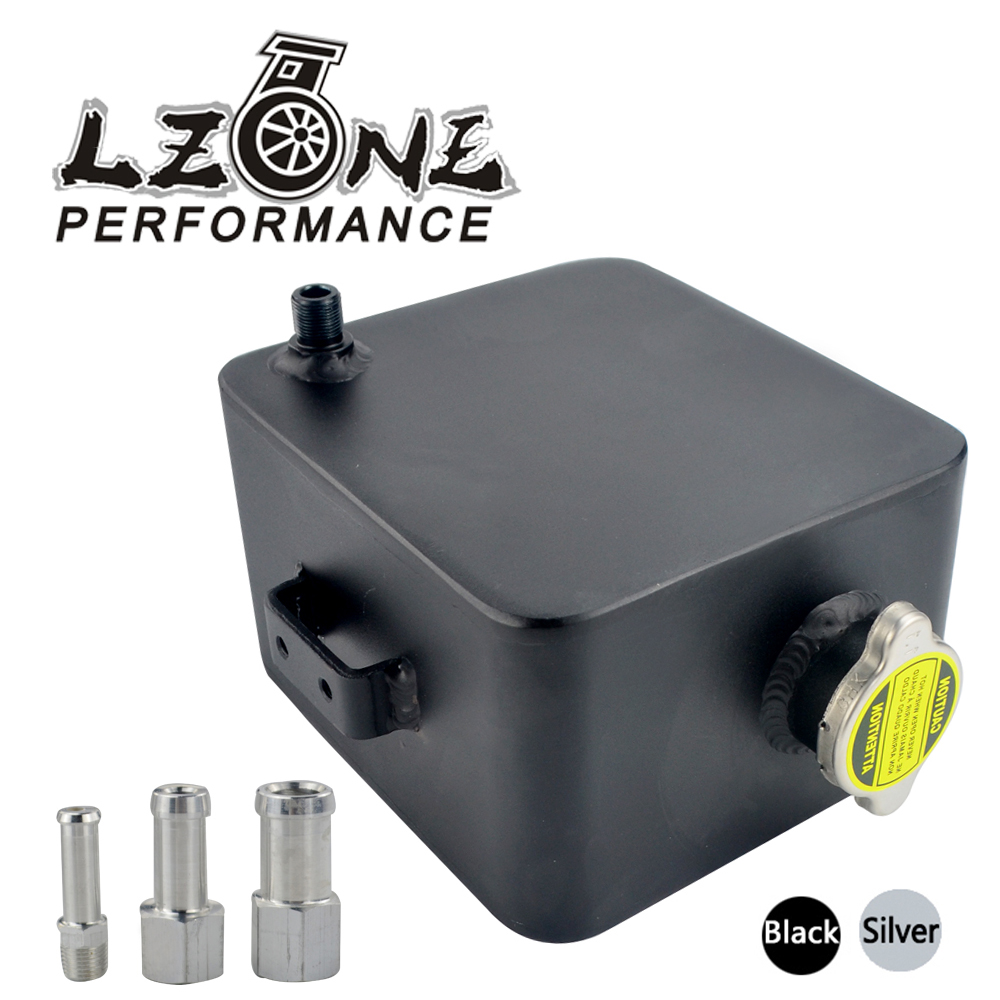 LZONE - 2L Litre Polished Alloy Header Expansion Water Tank & Cap WATER HEADER TANK Coolant Overflow Tank Reservoir Kit JR-TK24