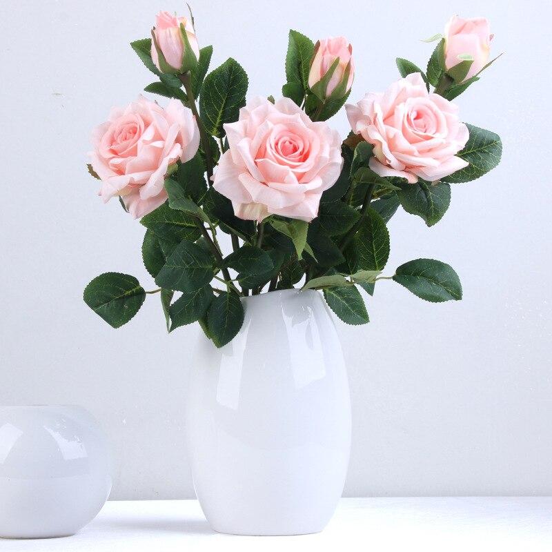 DIY свадебные искусственные головки цветов Роза Пион украшения дома аксессуары креативные для свадьбы Искусственные цветы шелковые цветы