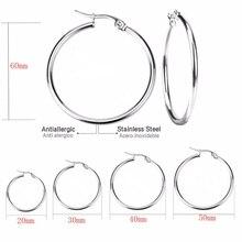 Todorova, маленькие, большие, круглые, женские серьги-кольца, увеличенные, обруч, ушные петли, гладкое кольцо, серьги, ювелирные изделия из нержавеющей стали