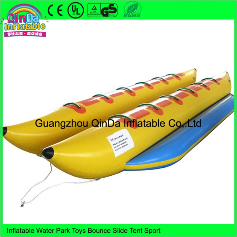 Factory price double-tube 12 person inflatable water banana boat for sale 3 8 person inflatable towable water sports inflatable single tube banana boat