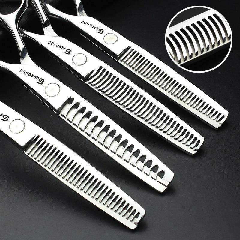 Sharonds 440c high-end cabelo desbaste tesoura barbeiro profissional cabeleireiro desbaste tesoura dentes corte tesouras