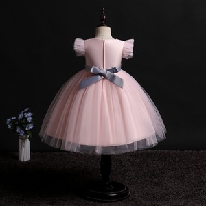 Image 2 - 2019 New Children Birthday Tutu Dress For baby Girls Kids Princess Party Clothes Wedding Holiday Wear Ceremony Evening Dress